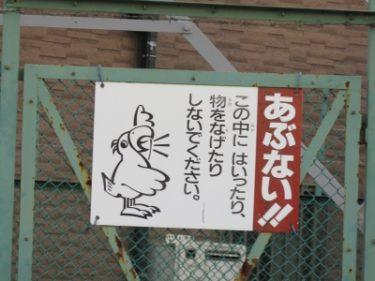【チュウイビト・立入禁止看板 No.0002】オウムが叫んで注意喚起!
