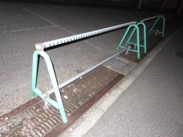 【単管バリケード No.0007】金属製緑・バリケード
