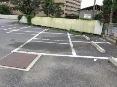 【おもしろ路面標示 No.0002】どう車を停めればいいのかよくわからない駐車線