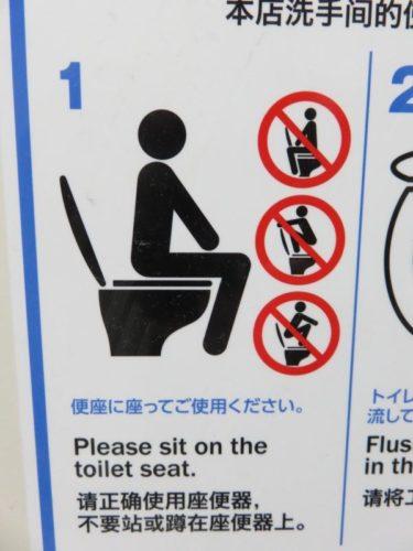 【ピクトさん No.0018】トイレで荒ぶるピクトさん